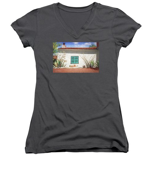 Window In Oracle Women's V-Neck (Athletic Fit)