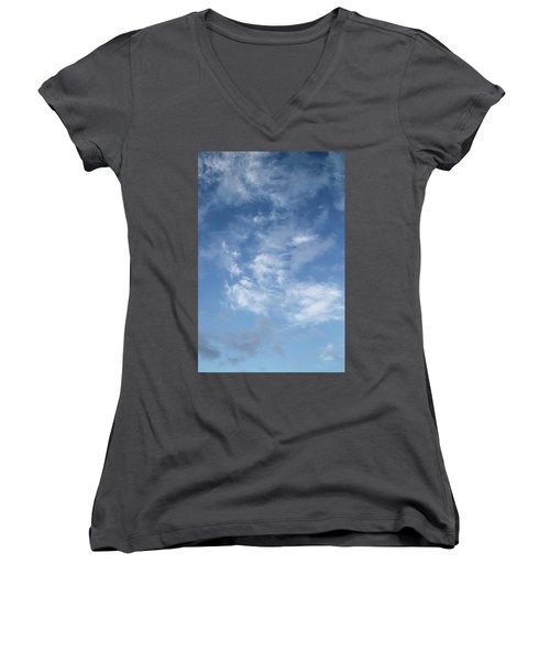 Window On The Sky In Israel During The Winter Women's V-Neck T-Shirt (Junior Cut) by Yoel Koskas