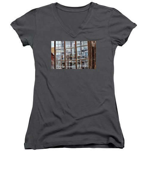 Window To The Past Women's V-Neck (Athletic Fit)