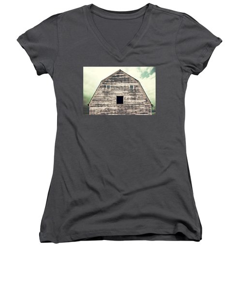 Women's V-Neck T-Shirt (Junior Cut) featuring the photograph Window To The Soul by Julie Hamilton