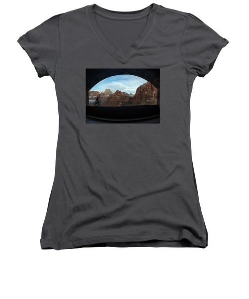 Window To Zion Women's V-Neck T-Shirt