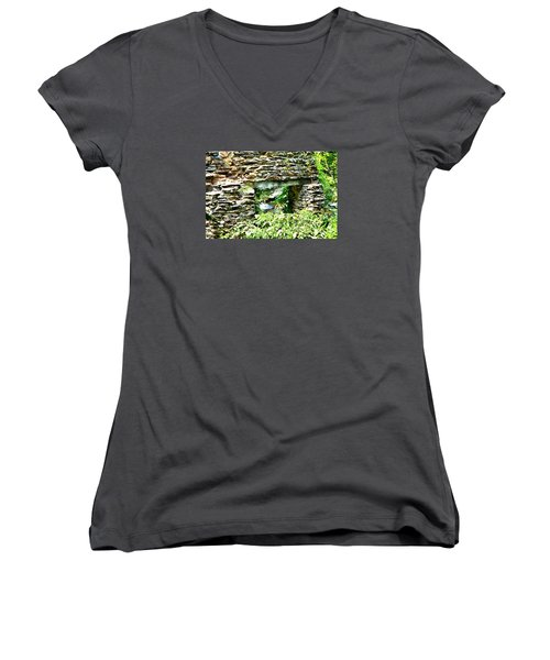 Window View Of Sope Creek Women's V-Neck T-Shirt