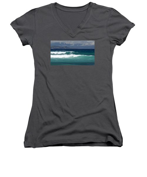 Windswept Ho'okipa Women's V-Neck