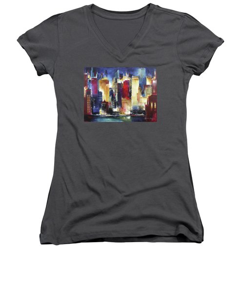 Windy City Nights Women's V-Neck (Athletic Fit)