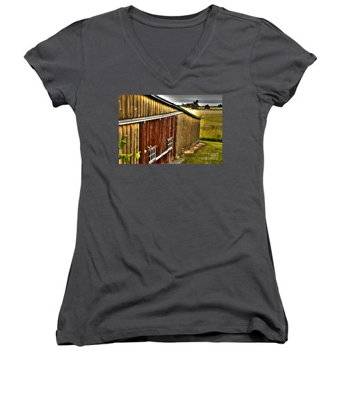Wine Barn Women's V-Neck T-Shirt