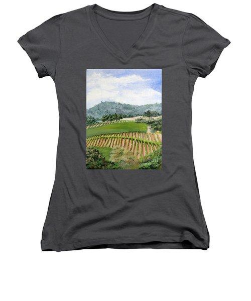 Wine Country Women's V-Neck