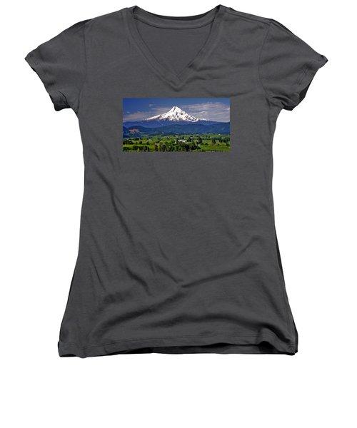 Wine Country Women's V-Neck T-Shirt (Junior Cut) by Scott Mahon