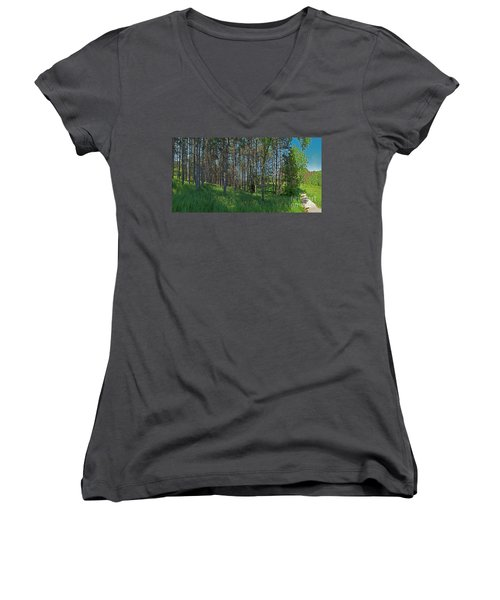 Wingate Prairie Veteran Acres Park Pines Crystal Lake Il Women's V-Neck (Athletic Fit)