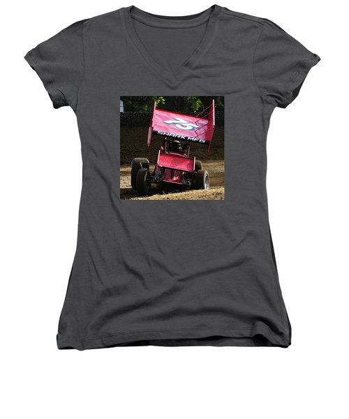 Wingin' It Into The Turn Women's V-Neck (Athletic Fit)