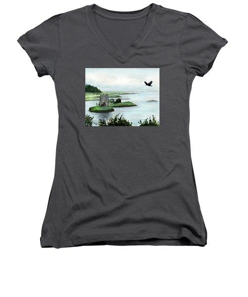 Winging Over Stalker Women's V-Neck T-Shirt