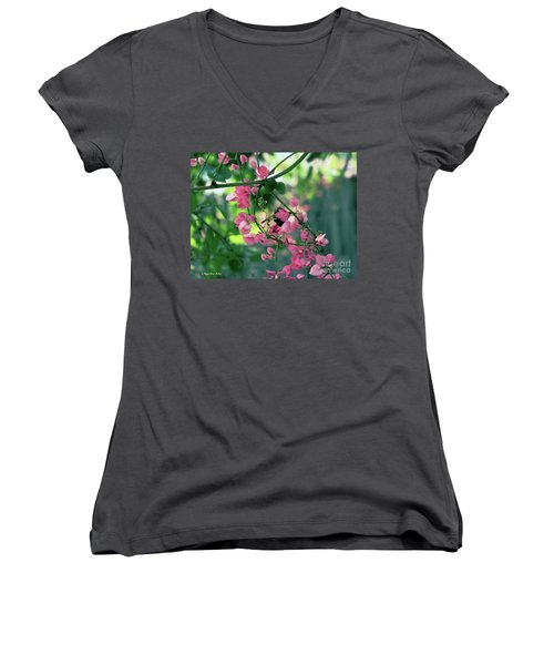 Women's V-Neck T-Shirt featuring the photograph Wings by Megan Dirsa-DuBois