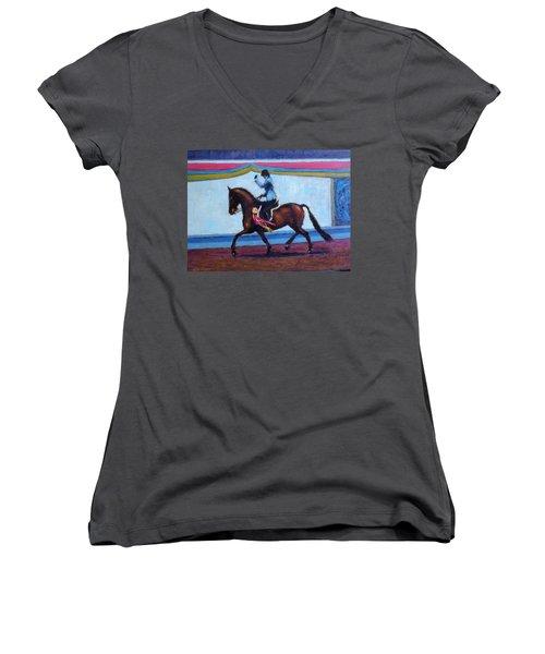 Winning Salute Women's V-Neck T-Shirt