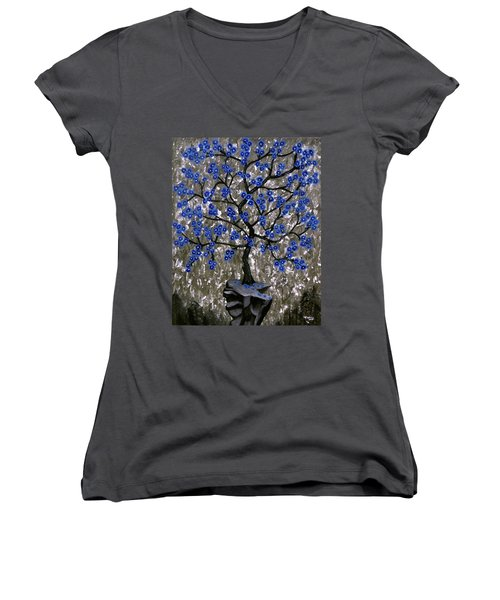 Winter Blues Women's V-Neck
