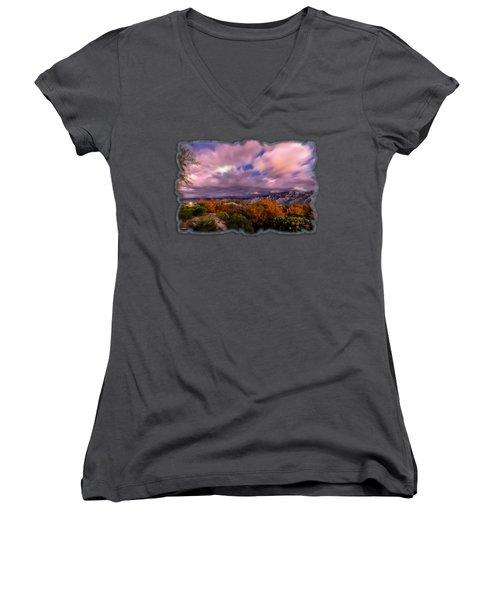 Winter Colors 25 Women's V-Neck T-Shirt