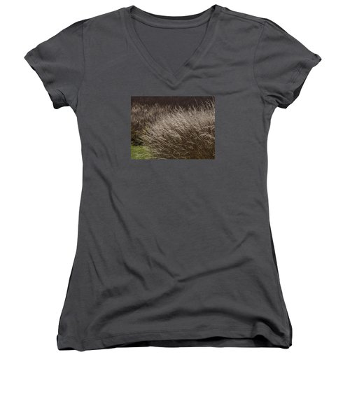 Winter Grass Women's V-Neck (Athletic Fit)