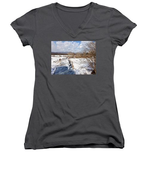 Winter Hike Women's V-Neck (Athletic Fit)