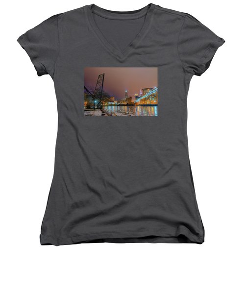 Winter In Cleveland, Ohio  Women's V-Neck