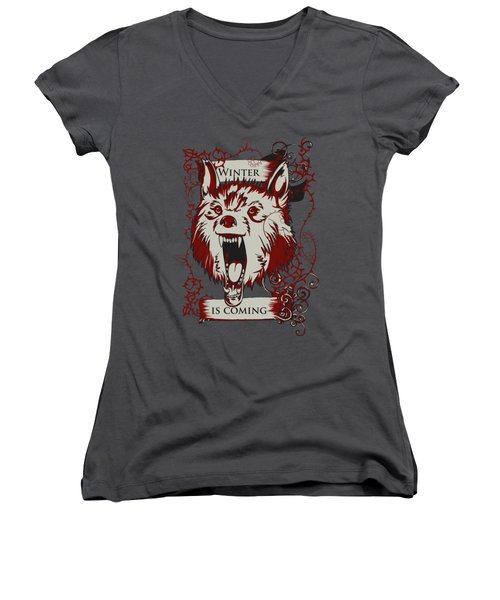 Winter Is Coming Women's V-Neck T-Shirt