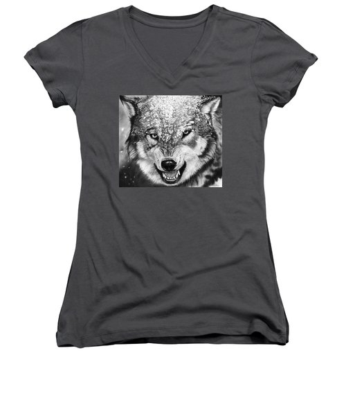 Winter Is Coming Women's V-Neck (Athletic Fit)