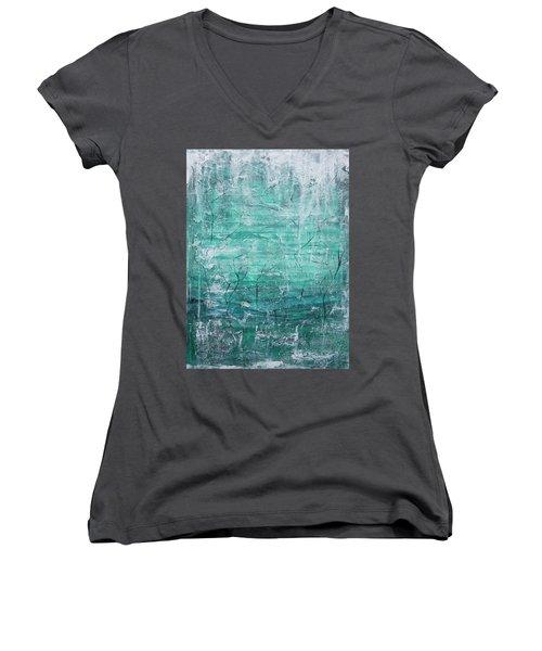 Winter Landscape Women's V-Neck T-Shirt (Junior Cut) by Jocelyn Friis