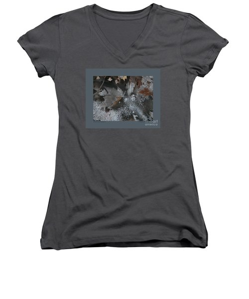 Winter Leaf Abstract-ii Women's V-Neck T-Shirt