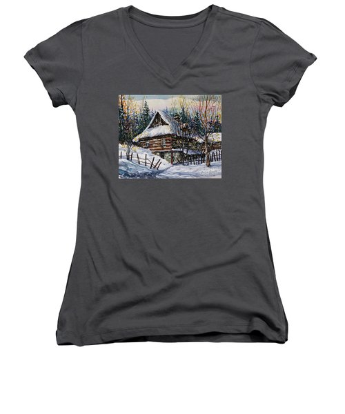 Winter Magic II  Women's V-Neck (Athletic Fit)