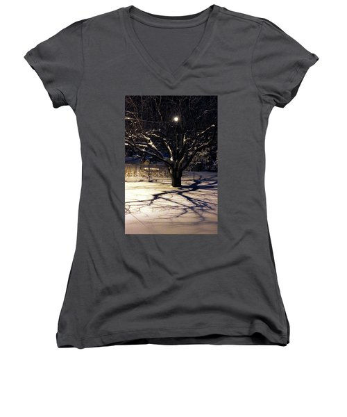 Winter Romace Women's V-Neck T-Shirt (Junior Cut)