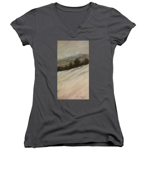 Winter Twilight Women's V-Neck T-Shirt (Junior Cut) by Kathleen McDermott