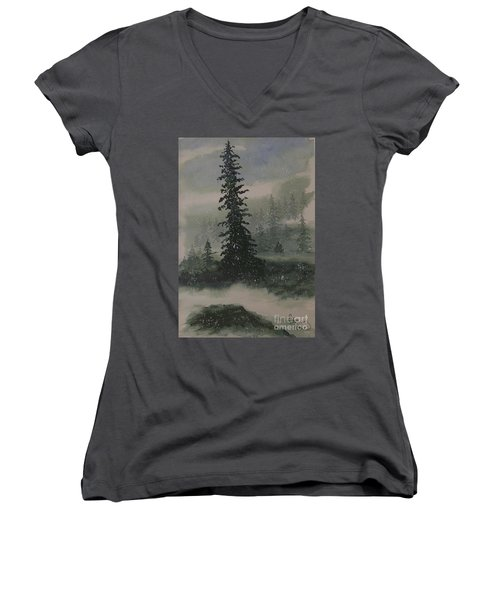 Winter Up North Women's V-Neck T-Shirt