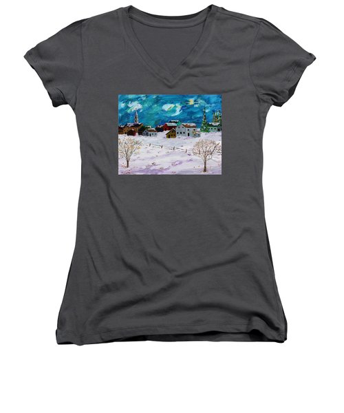 Winter Village Women's V-Neck T-Shirt