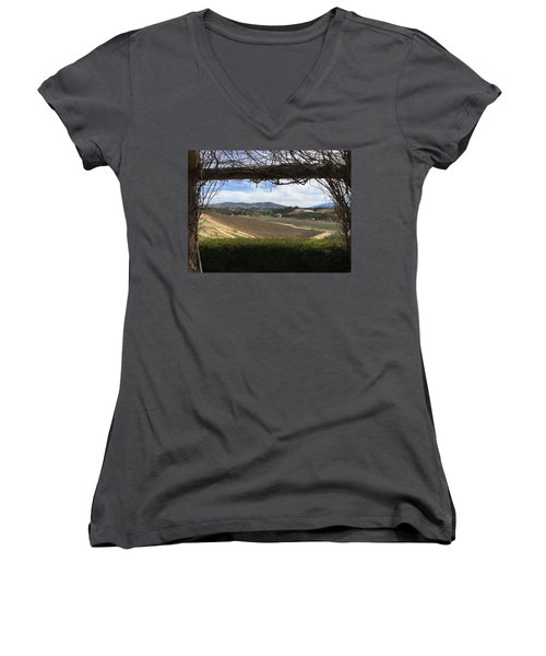 Winter Vines Women's V-Neck T-Shirt