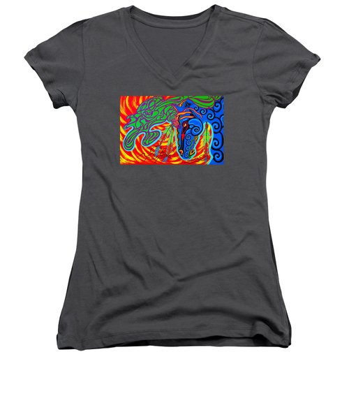 Winter Spirit Women's V-Neck T-Shirt