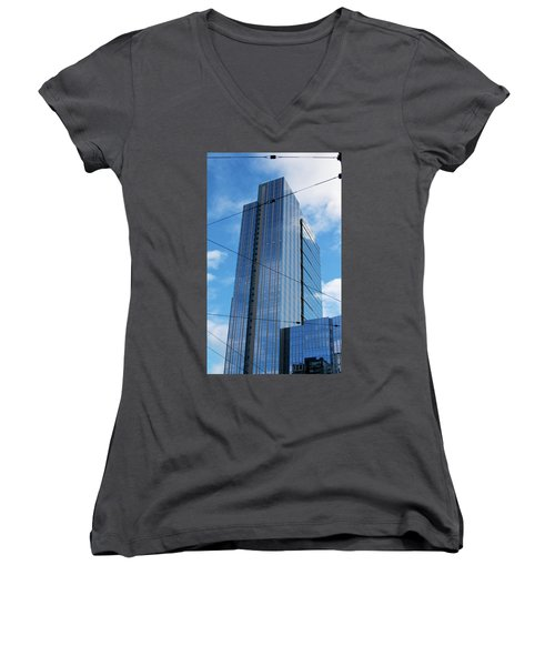 Wired In Seattle - Skyscraper Art Print Women's V-Neck (Athletic Fit)