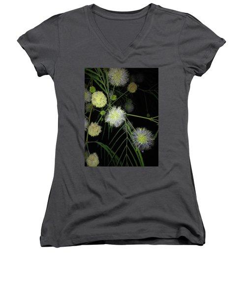 Wishing On A          J L H Women's V-Neck T-Shirt (Junior Cut) by Kimo Fernandez