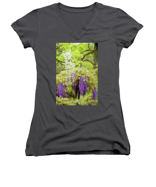 Wisteria Women's V-Neck T-Shirt
