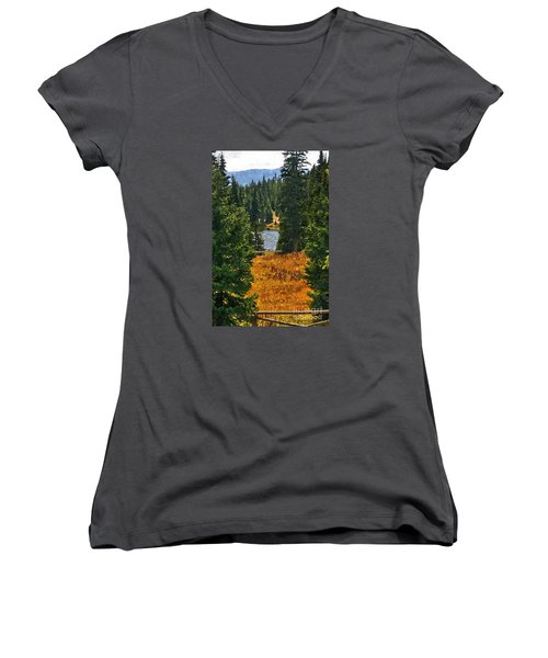 With A View Women's V-Neck