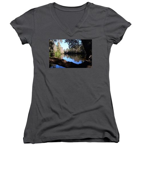 Withlacoochee Overlook Women's V-Neck T-Shirt