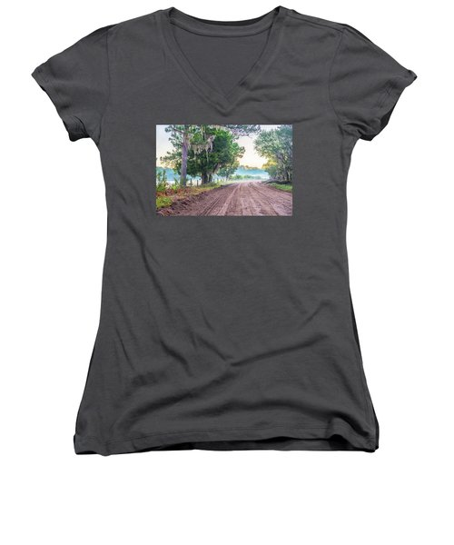 Witsell Rd - Church Field Fog Women's V-Neck (Athletic Fit)