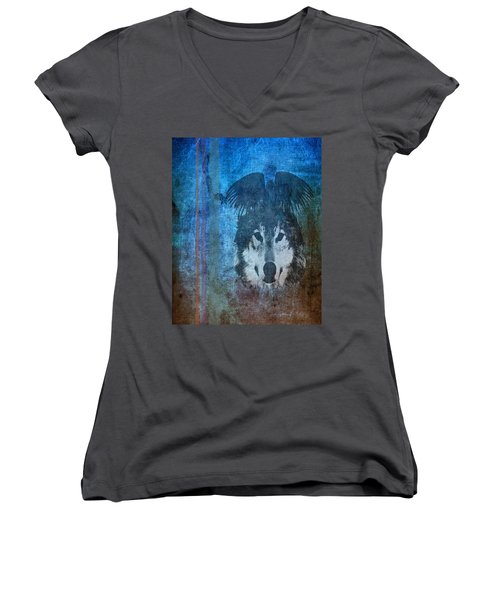 Wolf And Raven Women's V-Neck