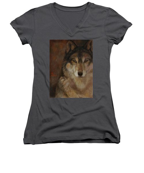 Wolf Head Women's V-Neck