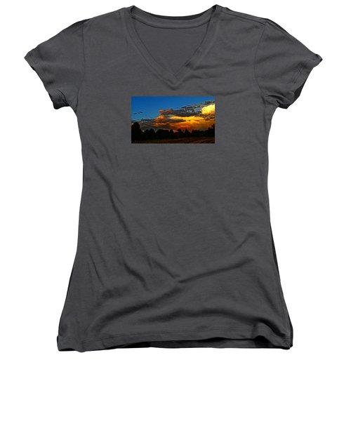 Wonder Walk Women's V-Neck T-Shirt (Junior Cut) by Eric Dee