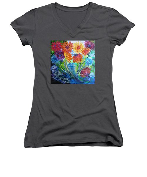 Wonderland Garden Women's V-Neck (Athletic Fit)