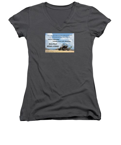 Woo Hoo What A Ride Women's V-Neck (Athletic Fit)