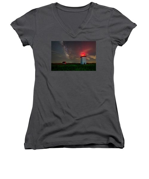 Wood End Nights Women's V-Neck