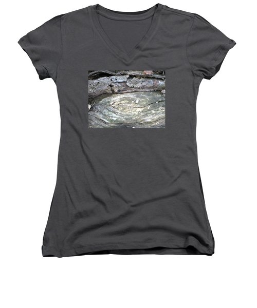 Wood Knot Women's V-Neck T-Shirt (Junior Cut) by Michele Wilson