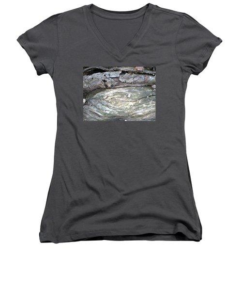 Wood Knot Women's V-Neck T-Shirt