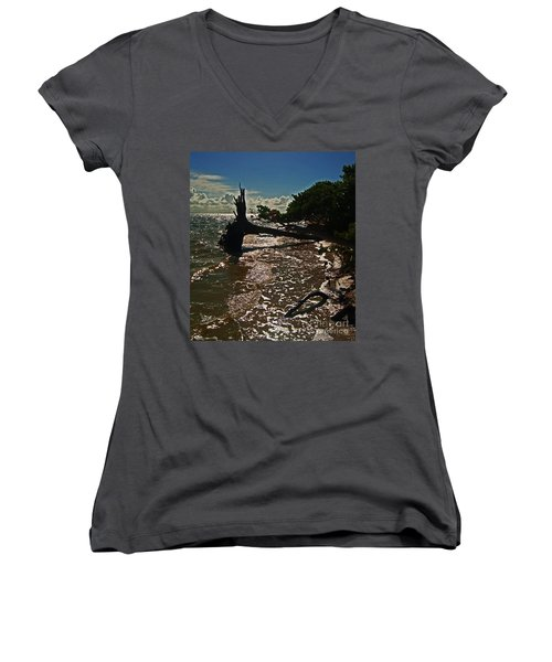 Wood Light Women's V-Neck