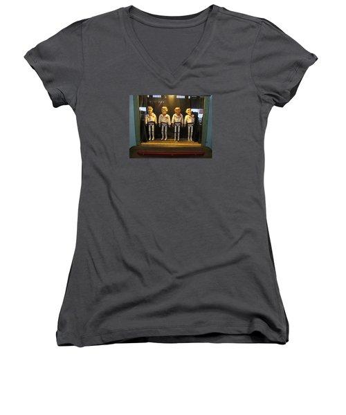 Wooden Rat Pack Women's V-Neck T-Shirt