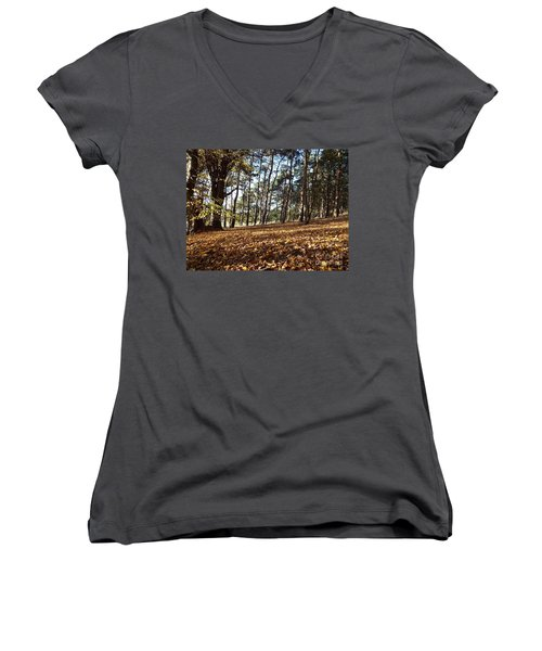 Woodland Carpet Women's V-Neck (Athletic Fit)
