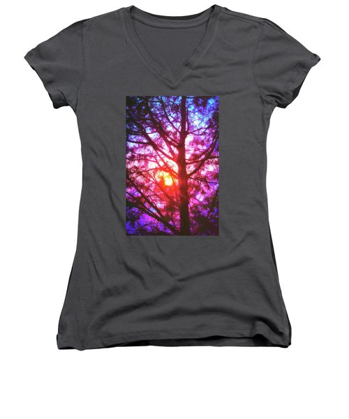 Woodland Cathedral Women's V-Neck T-Shirt